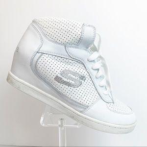 Skechers Skch+3 White Hidden Heel Sneakers